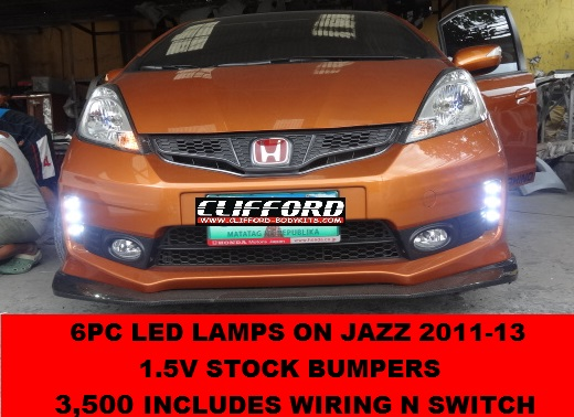 6pc led lamp on 1.5 bumper w/ switch