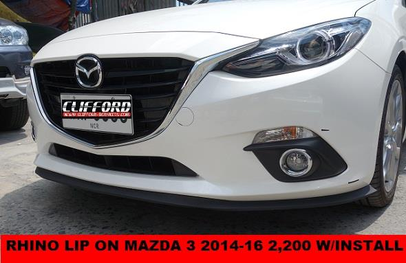RHINO LIP ON MAZDA 3