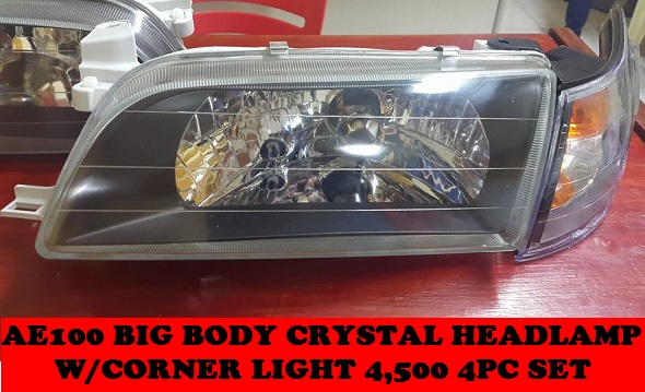 CRYSTAL HEADLAMP W/CORNER LIGHT