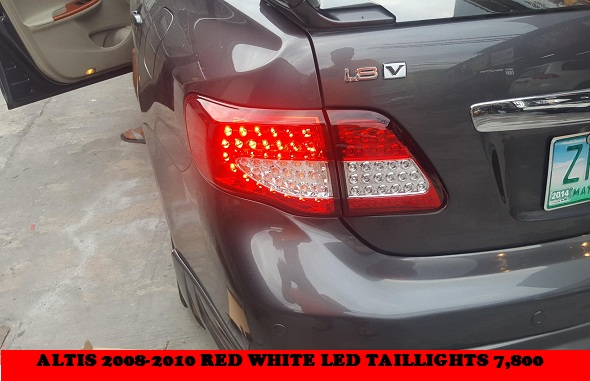 LED TAILLIGHTS ALTIS 2008-2010