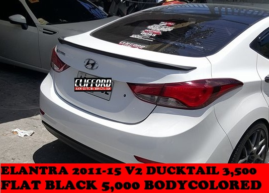ELANTRA 2011-2015 DUCKTAIL SPOILER