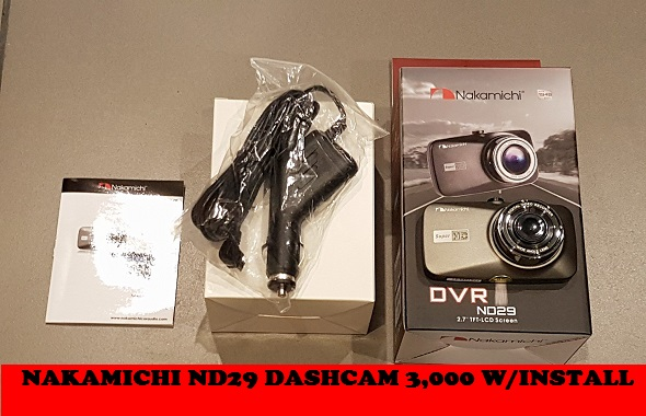 NAKAMICHI ND29 DASHCAM