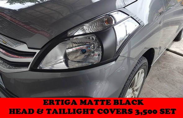 MATTE BLACK HEAD AND TAILLAMP COVERS ERTIGA