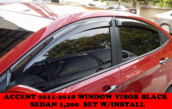 ACCENT 2011-2018 WINDOW VISOR