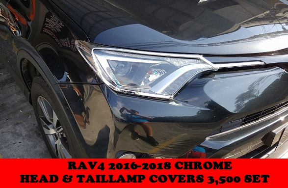CHROME HEAD AND TAILLAMP COVERS RAV4 2016-2018