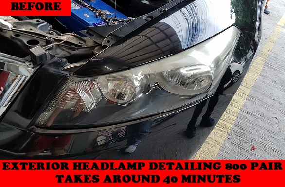 EXTERIOR HEADLAMP DETAILING ACCORD