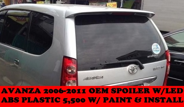 OEM SPOILER WITH LED AVANZA 2006-2011