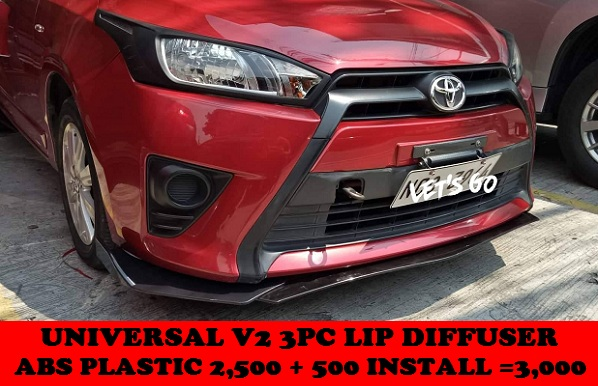 UNIVERSAL 3PC LIP DIFFUSER ON YARIS 2014-2017