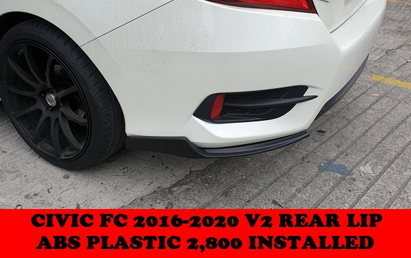 V2 REAR LIP CIVIC 2016-2020