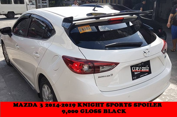 KNIGHT SPORTS SPOILER MAZDA3 2014-2019 HATCH