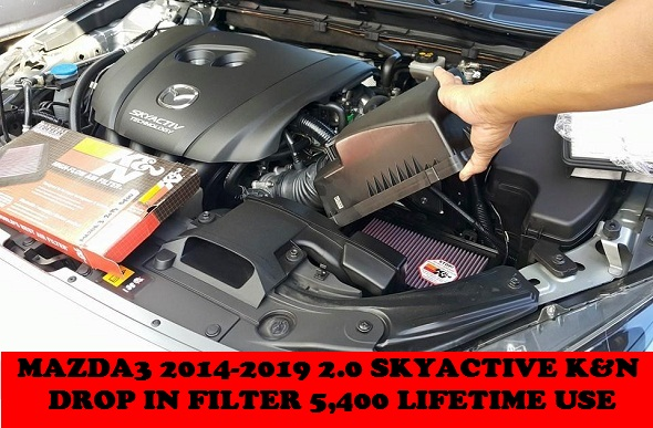 K&N DROP IN FILTER MAZDA3 2014-2019 2.0