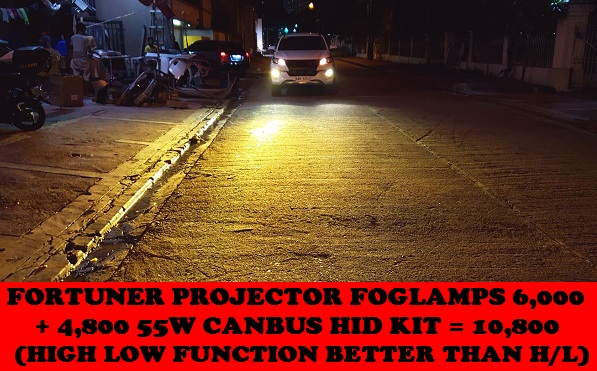 PROJECTOR FOGLAMPS FORTUNER