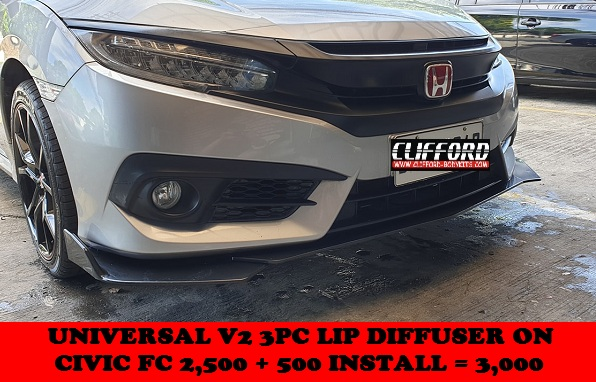 UNIVERSAL 3PC LIP DIFFUSER ON CIVIC FC