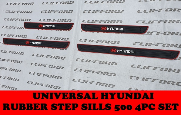 UNIVERSAL HYUNDAI RUBBER STEP SILLS ON ACCENT