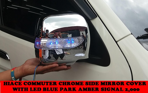 SIDE MIRROR COVER WITH LED HIACE COMMUTER