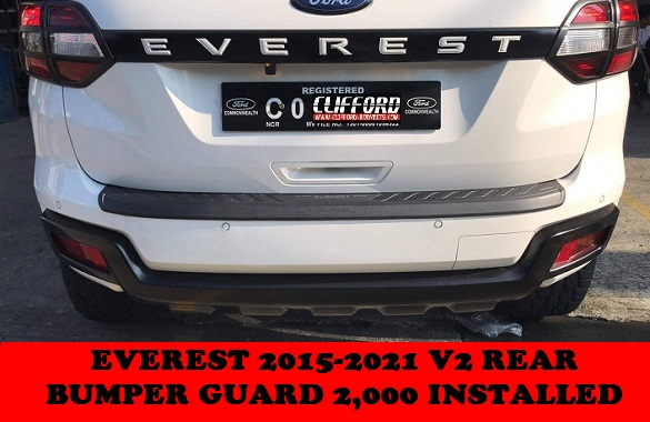 REAR BUMPER GUARD EVEREST 2015-2020
