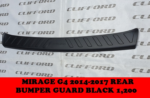 REAR BUMPER GUARD G4 2014-2017 BLACK