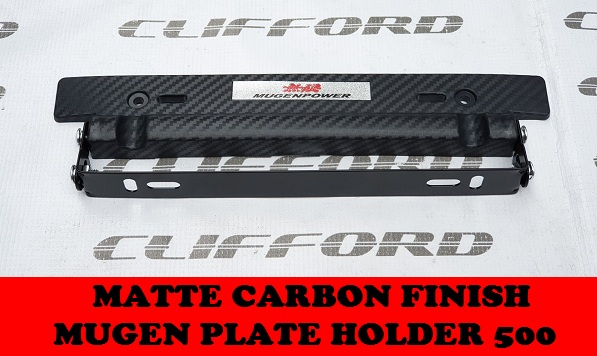 CARBON FINISH PLATE HOLDER