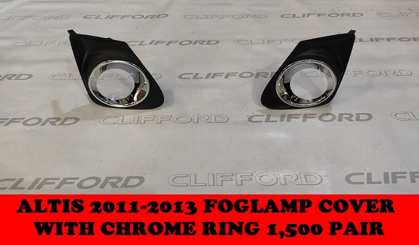 FOGLAMP COVER WITH CHROME RING ALTIS 2011-2013