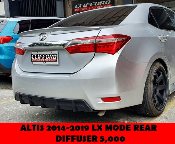 LX MODE REAR DIFFUSER ALTIS 2014-2019